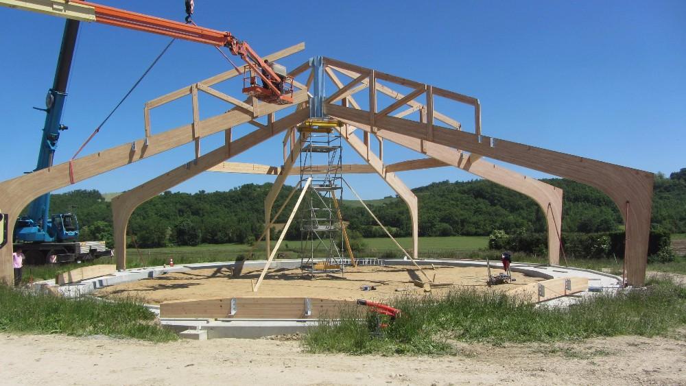 image39 - mur ossature bois charpente bois/metallique metal bardage bois composite caillebotis fabrication commande numerique construction assemblage