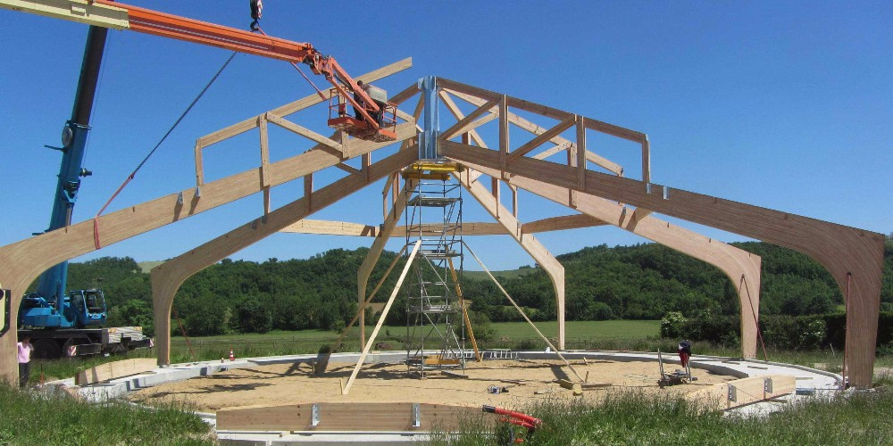 image44 - mur ossature bois charpente bois/metallique metal bardage bois composite caillebotis fabrication commande numerique construction assemblage