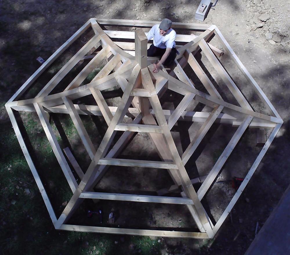 image46 - mur ossature bois charpente bois/metallique metal bardage bois composite caillebotis fabrication commande numerique construction assemblage