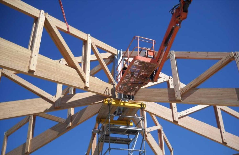 image5 - mur ossature bois charpente bois/metallique metal bardage bois composite caillebotis fabrication commande numerique construction assemblage