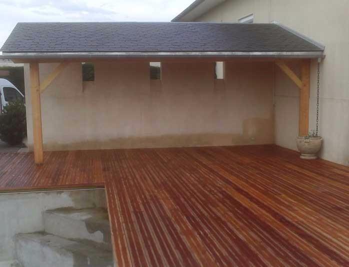 image11 - mur ossature bois charpente bois/metallique metal bardage bois composite caillebotis fabrication commande numerique construction assemblage