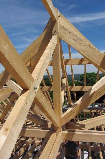image12 - mur ossature bois charpente bois/metallique metal bardage bois composite caillebotis fabrication commande numerique construction assemblage