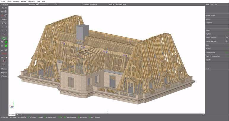 image25 - mur ossature bois charpente bois/metallique metal bardage bois composite caillebotis fabrication commande numerique construction assemblage