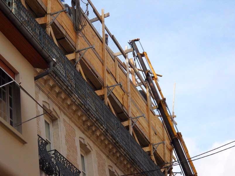 image33 - mur ossature bois charpente bois/metallique metal bardage bois composite caillebotis fabrication commande numerique construction assemblage