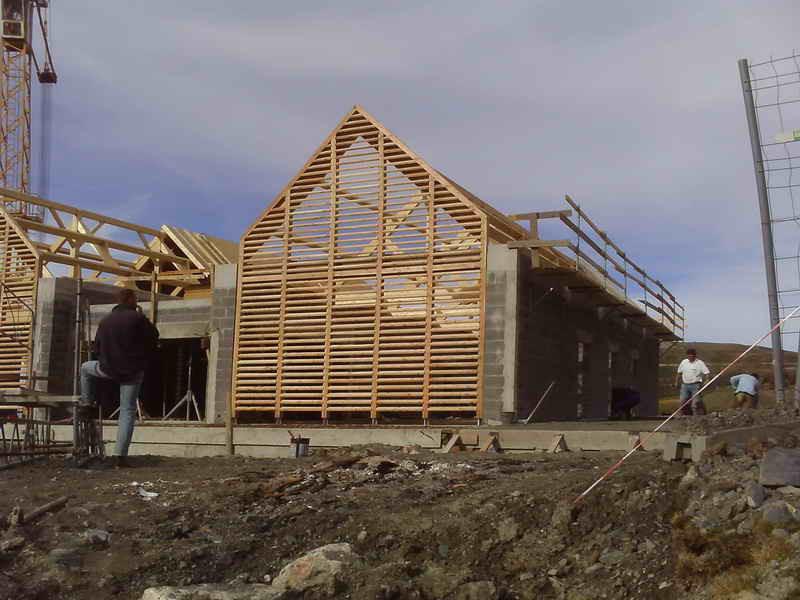 image75 - mur ossature bois charpente bois/metallique metal bardage bois composite caillebotis fabrication commande numerique construction assemblage