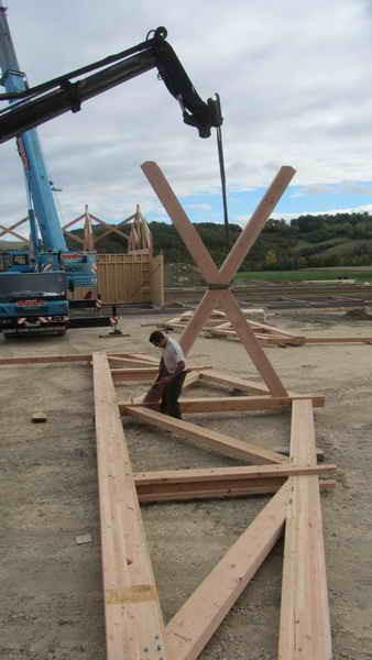 image57 - mur ossature bois charpente bois/metallique metal bardage bois composite caillebotis fabrication commande numerique construction assemblage