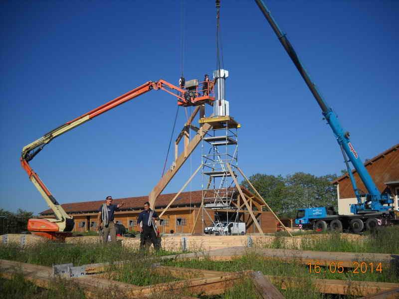 image70 - mur ossature bois charpente bois/metallique metal bardage bois composite caillebotis fabrication commande numerique construction assemblage